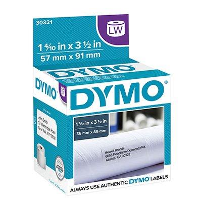 Etiqueta p/impressora térmica 3,6x8,9cm 30321 Dymo CX 520 UN
