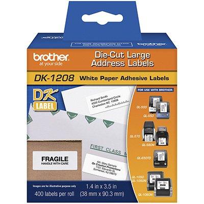 Etiqueta de endereço 38mmx90mm (rl c/ 400un) DK1208 Brother CX 1 UN