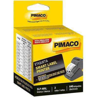 Etiqueta p/impressora térmica 28x51mm SLP-MLR Pimaco CX 640 UN