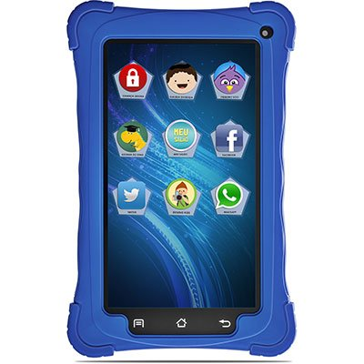 "Tablet Kids, Android 7.1, Memória Interna de 8gb, Câmera de 2mp, Wi-fi, Tela de 7"", Azul - 8814 Mondial CX 1 UN"