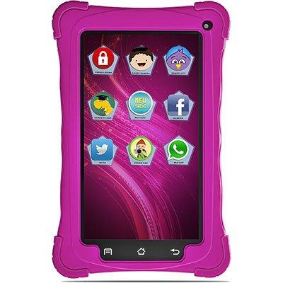 "Tablet Kids, Android 7.1, Memória Interna de 8gb, Câmera Traseira de 2mp, Wi-fi, Tela de 7"", Rosa 8813 - Mondial  CX 1 UN"