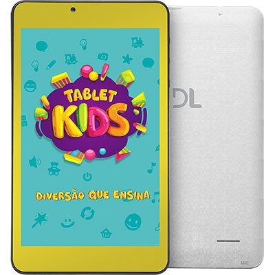 """Tablet Kids C10, Memória Interna de 8gb, Tela de 7"""", Branco TX394BBV DL CX 1 UN"""
