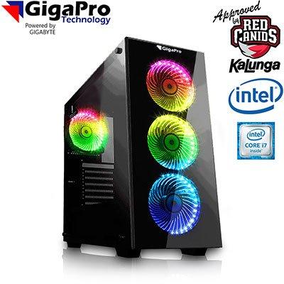 Computador Gamer Ed. Red Canids Intel Core i7, Memória 16GB, Armazenamento SSD 480GB + HD 1TB, Nvidia RTX2070 8GB GDDR6 - GigaPro CX 1 UN