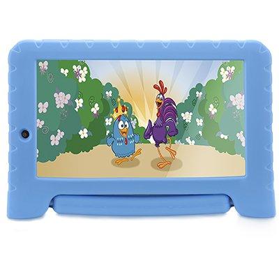 "Tablet Galinha Pintadinha Plus, Memória Interna de 16gb, Tela de 7"", Azul - NB311 Multilaser CX 1 UN"
