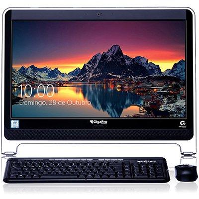 "Computador AIO Gigapro, Intel Dual Core, Memória 4GB, Armazenamento 1TB, Tela 21,5"", Windows 10 Pro CX 1 UN"