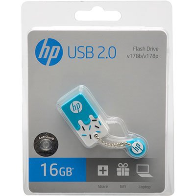 Pen Drive 16gb USB 2.0 mini azul V178B-16 HP BT 1 UN