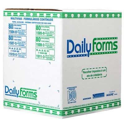 """Formulário branco razão 2 vias 56gr 5""""1/2x240 daily forms Moore CX 2700 FL"""