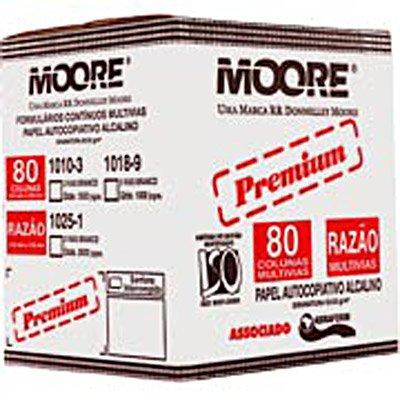 """Formulário branco razão a.cop.2vias 55g 5 1/2""""x240 1025-1 Moore CX 3000 JG"""