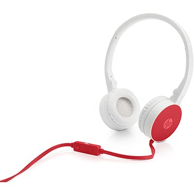 Headphone branco/vermelho H2800 W1Y21AA HP CX 1 UN