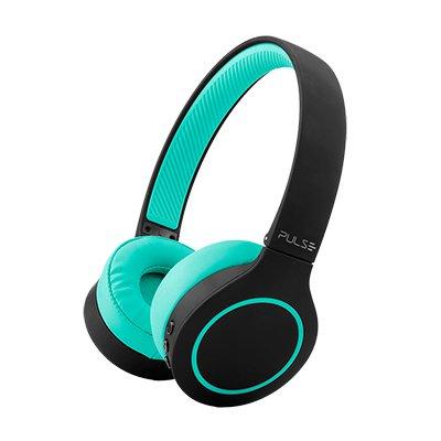 Headphone Bluetooth preto-verde PH340 Multilaser CX 1 UN