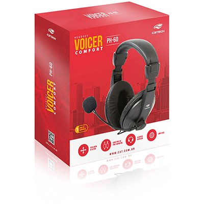 Headset P2 Voicer Confort ph-60bk C3Tech CX 1 UN