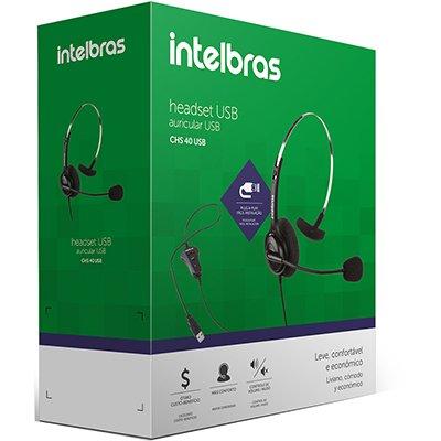 Headset USB CHS 40 4010041 Intelbras UN 1 UN