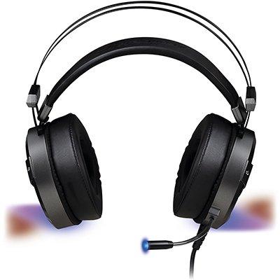 Headset Gamer P2/USB Pro RGB cinza H1 64391 Fortrek PT 1 UN