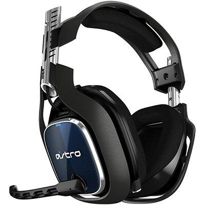 Headset ASTRO Gaming A40 TR + MixAmp Pro TR Gen 4 com Áudio Dolby para PS4, PC, Mac - Preto/Azul CX 1 UN