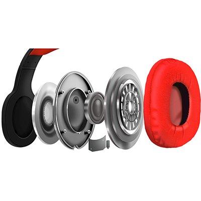 Headphone Bluetooth e entrada microSD EPB-MS1RD Elg CX 1 UN