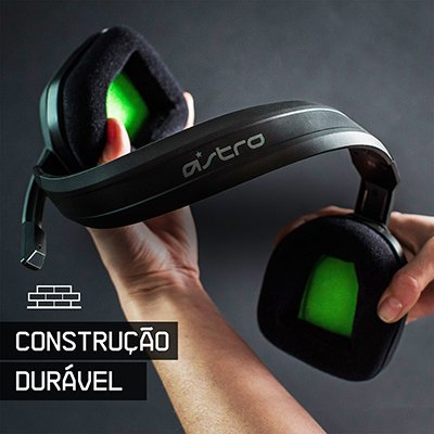 Headset ASTRO Gaming A10 para Xbox, PlayStation, PC, Mac - Preto/Verde PT 1 UN