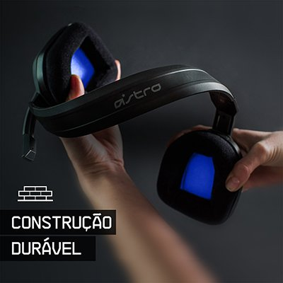 Headset ASTRO Gaming A10 para PlayStation, Xbox, PC, Mac - Preto/Azul PT 1 UN