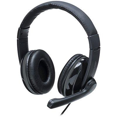 Headset Pro USB preto/cinza PH317 Multilaser PT 1 UN