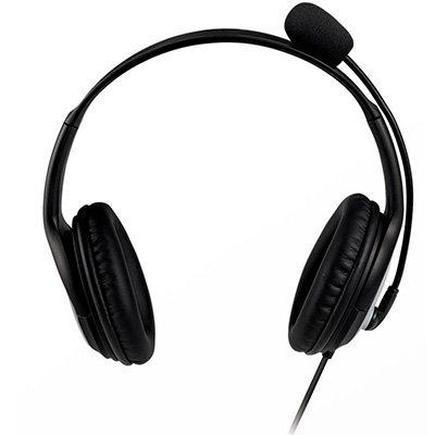 Headset USB LifeChat LX-3000 preto JUG-00013 MFT Microsoft BT 1 UN