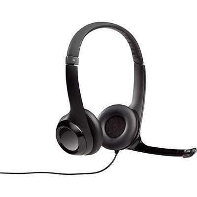 Headset com fio USB Logitech H390, Controles de Áudio Integrado e Microfone com Redução de Ruído BT 1 UN
