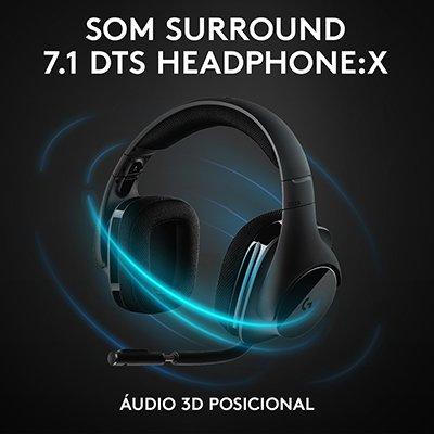 Headset Gamer Wireless Surround 7.1 Black G533 Logitech G CX 1 UN