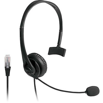Headset p/telefone Office preto PH251 Multilaser CX 1 UN
