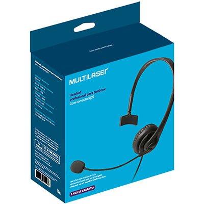 Headset p/telefone Office preto PH251 Multilaser CX 1 UN