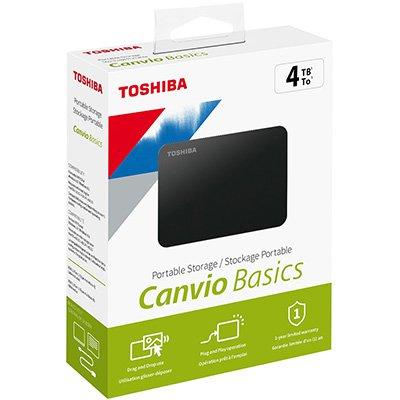 HD externo 4tb usb portátil preto HDTB440XK3 Toshiba CX 1 UN