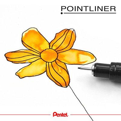 Caneta Nanquim Poinliner Com 5 Pontas, KITPOINTLINER - Pentel BT 1 UN