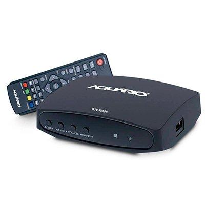 Conversor e gravador Digital de TV DTV-7000S Aquario CX 1 UN