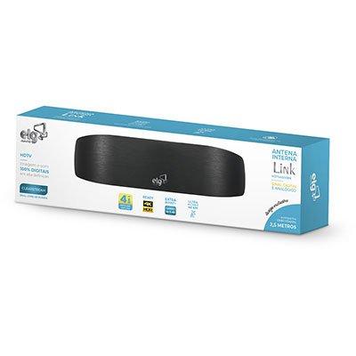 Antena Digital interna HDTV/UHF/VHF/FM c/ cabo 2,5m Link Elg CX 1 UN