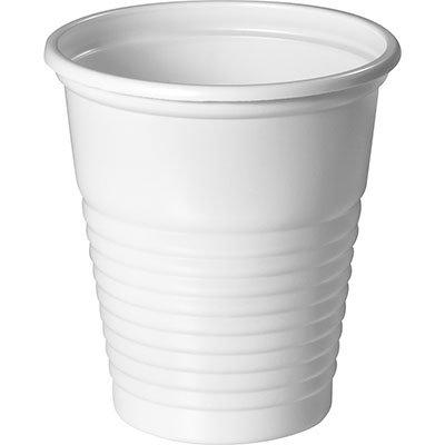 Copo plástico descartável 80ml PS branco CF-080 Copobras PT 100 UN