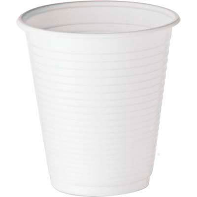 Copo plástico descartável 180ml PP branco CF-180 Copobras PT 100 UN