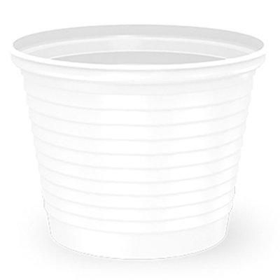 Copo plástico descartável 50ml PS branco sm-050 Copobras PT 100 UN