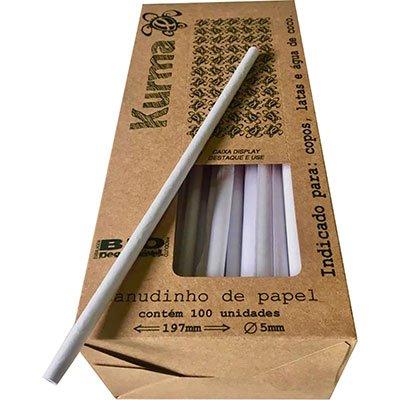 Canudo papel branco CDPO197 Kurma PT 100 UN