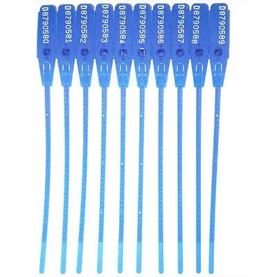 Lacre 16cm c/dupla trava p/ uso diversos azul Protteu PT 100 UN
