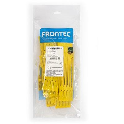 Lacre 165mm PP amarelo 100un Frontec PT 100 UN