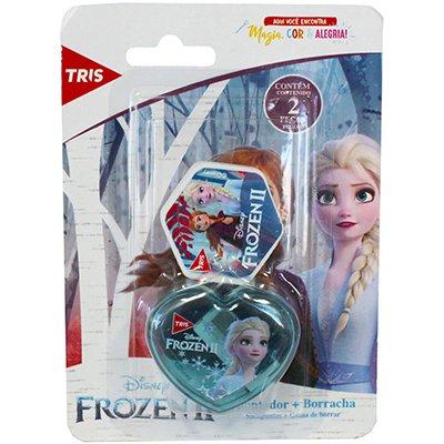 Apontador c/deposito + 1 borracha Frozen 679150 Tris BT 2 PC