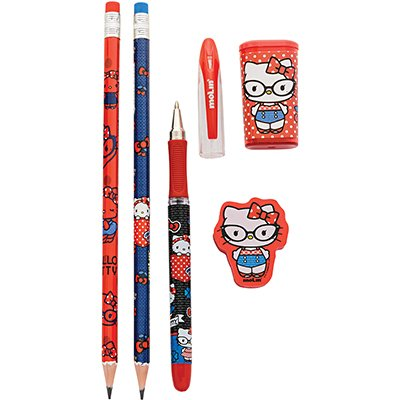Conjunto escrita escolar Hello Kitty c/5 itens 21630 Molin BT 1 KT