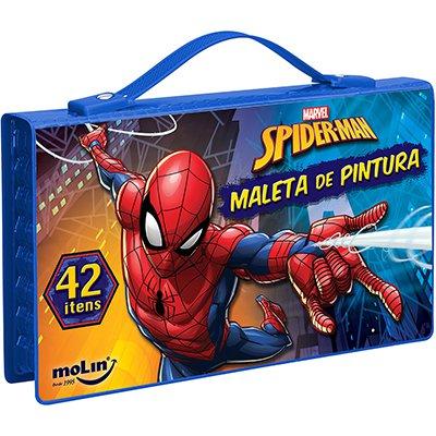 Maleta para colorir Spider-Man retangular sortido 5284 Molin PT 1 UN
