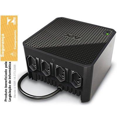 Estabilizador 110v Cubic 500va 4 tomadas preto Apc CX 1 UN
