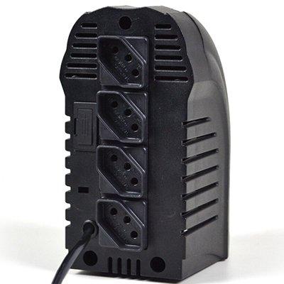 Estabilizador bivolt Powerest 500va 4 tomadas preto 9016 Ts Shara CX 1 UN