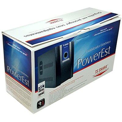 Estabilizador bivolt Powerest 2000va  6 tomadas 9011 Ts Shara CX 1 UN