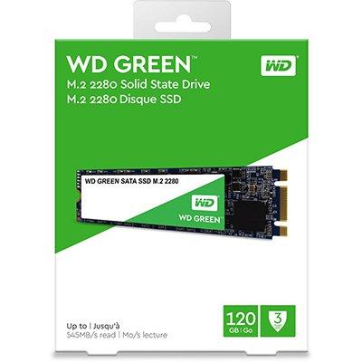 SSD WD Green M.2 120GB WDS120G2, Leitura 545MB/s, Gravação 465MB/s - Western Digital CX 1 UN
