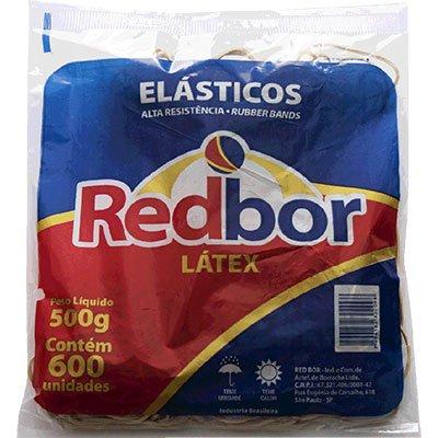 Elástico látex n.18 c/ 600 unidades REL02 Red Bor PT 1 UN