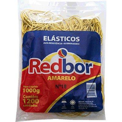 Elástico amarelo n.18 c/ 1200 unidades REA01 Red Bor PT 1 UN