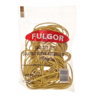 Elástico látex super amarelo n.18 c/ 55 unidades 244050 Fulgor PT 1 UN