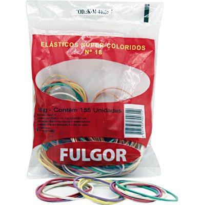 Elástico super colorido n.18 c/ 155 unidades Fulgor PT 1 UN