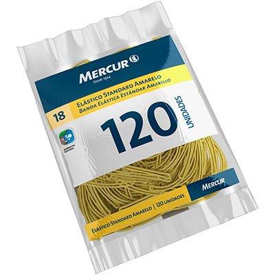 Elástico standard amarelo n.18 c/ 120 unidades B05040318-07 Mercur PT 1 UN