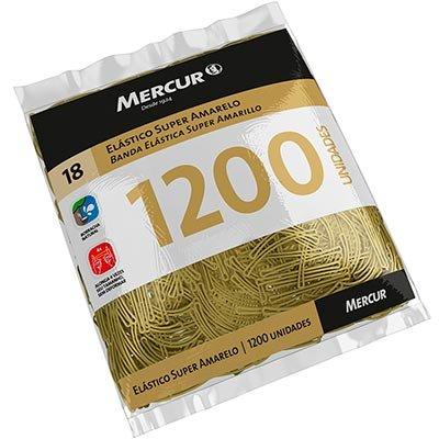 Elástico super amarelo n.18 c/ 1200 unidades B05010418-07 Mercur PT 1 UN